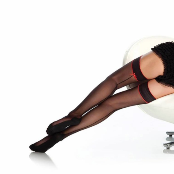 8de3f64d88f5d Coquette International Accessories | Coquette Cuban Heel Thigh Highs ...
